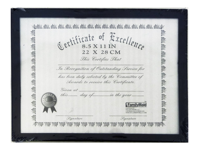 Certificate Frame : Wholesale 99 cents Items, Dollar Store Items ...